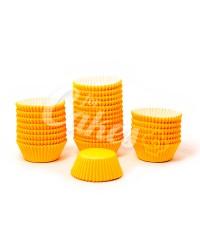 Капсулы бумажные для оформления и выпечки (тарталетки) однотонные Оранжевые, 1000 шт
