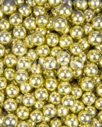 Посыпка кондитерская «Бисер Золото 8 мм»