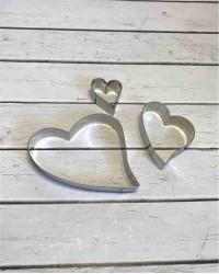 Вырубки для пряников, печенья «Игривые Сердечки», набор 3 штуки