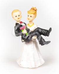 Керамические статуэтки Жениха и Невесты с юмором, 15515A