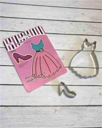Вырубки для пряников, печенья набор «Платье и Туфелька»