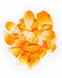 Вафельные листики «Лист Ясеня», крупный, цвет бело-оранжевый