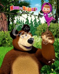 Вафельные картинки «Маша и Медведь»