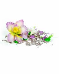 Сахарные цветы из мастики «Букет на проволоке - Орхидеи с Сиреневым напылением», Казахстан