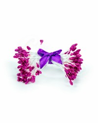 Тычинки с блестками для цветов из мастики «Пурпурный», Китай