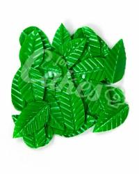 Вафельные листики «Лист Ясеня», крупный, цвет зеленый