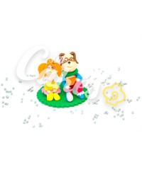 Сахарная фигурка из мастики «Барбоскины - Лиза и Гена», Казахстан