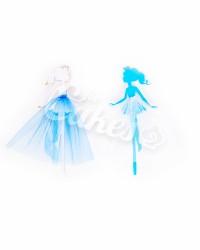 """Топпер """"Принцесса"""", вариант №2, цвет белый и голубой"""