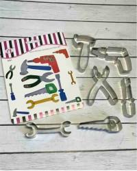 Вырубки для пряников, печенья набор «Молоток, Дрель, Пассатижи, Гаечный ключ, Ножовка, Отвертка»