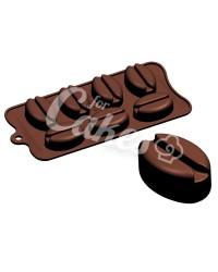 Силиконовый молд для шоколада, карамели, мастики, айсинга «Кофейные зерна», Италия