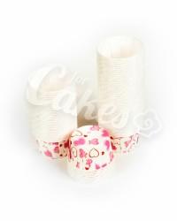 Капсулы для выпечки с розовым рисунком, 50x39 мм