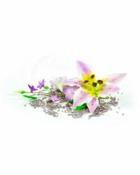 Сахарные цветы из мастики «Букет на проволоке - Лилии с Сиреневым напылением», Казахстан