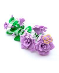 Сахарные цветы из мастики «Букет на проволоке - Розы Сиреневые», Казахстан