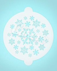 Трафарет, утолщённый пластик «Снежинки»