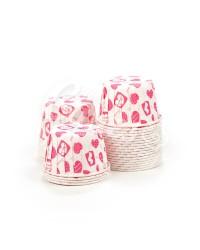 Капсулы для выпечки с рисунком Малиновые Сердечки, 50x39 мм