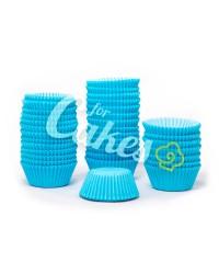 Капсулы бумажные для оформления и выпечки (тарталетки) однотонные Голубые, 1000 шт