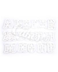 Пластиковые ШТУЧНЫЕ формочки для пряников и мастики Буквы, Русский Алфавит