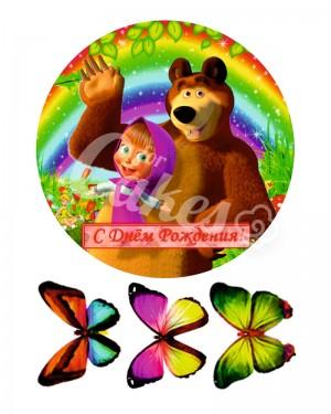 Вафельные картинки «Маша и Медведь» (21)